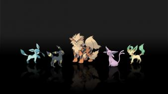 Pokemon espeon jolteon arcanine leafeon glaceon wallpaper