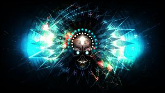 Skulls dark dubstep widescreen endeffect precurser evil wallpaper