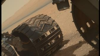 Solar system planets desert mars wheels curiosity wallpaper