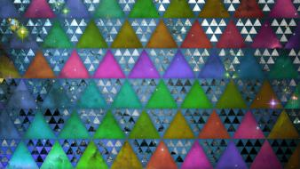 Space triforce rainbows artwork glitch triangles hue wallpaper