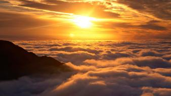 Sunrise clouds new zealand skyscapes wallpaper