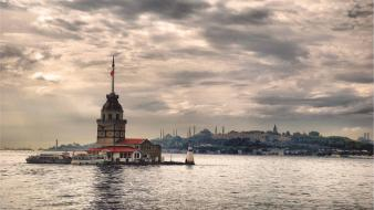 Tower istanbul bosphorus kiz kulesi wallpaper