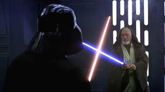 Vader obi wan versus dark side light Wallpaper