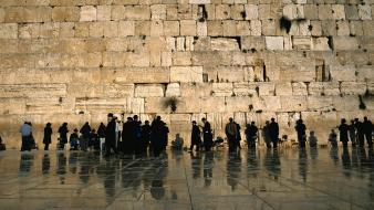 Wall people buildings israel ancient temple jewish cities wallpaper