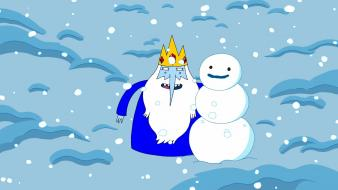 Winter snow snowmen adventure time ice king Wallpaper