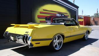 442 1970 oldsmobile cars convertible wallpaper