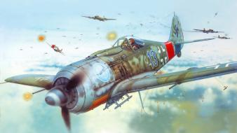 Aircraft war flying artwork wallpaper