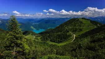 Alps green mountains nature rivers wallpaper