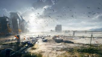 Battlefield 4 birds concept art game wallpaper