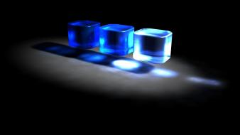 Blue cubes 3d Wallpaper