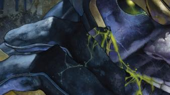 Blue marvel comics thanos Wallpaper