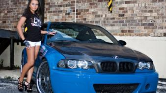 Bmw cars girls with wallpaper