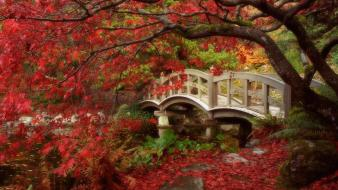 British columbia japan japanese bridges garden wallpaper