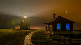 California national geographic fog houses landscapes wallpaper