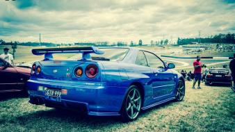 Cars sports nissan skyline r34 gt-r gtr Wallpaper