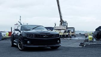Chevrolet camaro ss black cars muscle car wallpaper