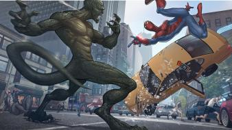 Comics spider-man new york city artwork marvel wallpaper