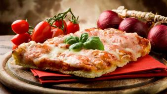 Food pizza italian tomatoes wallpaper