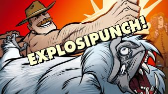 Fortress 2 yeti punch saxton hale sasquatch wallpaper