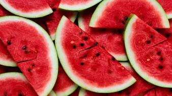 Fruits sliced watermelons Wallpaper
