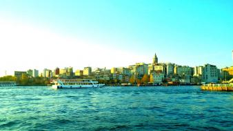 Galata tower istanbul turkey cityscapes Wallpaper