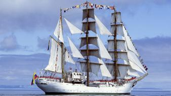 Gloria colombia sailing ships Wallpaper