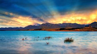 Grove new zealand blue brown clouds wallpaper