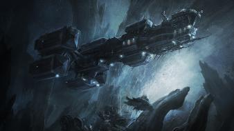 Illustrations prometheus spaceships concept art alien landscapes radojavor wallpaper