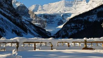 Lake louise landscapes mountains nature snow wallpaper