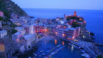Light landscapes nature cityscapes italy vernazza wallpaper