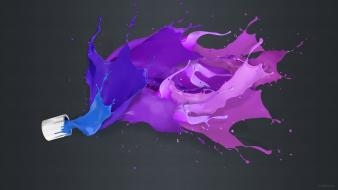Liquid paint digital art artwork colors splashes wallpaper