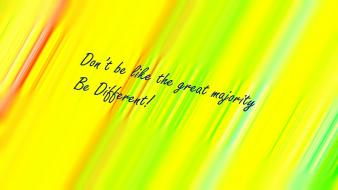 Minimalistic red multicolor yellow text quotes difference colors wallpaper