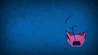 Minimalistic robots x-men sentinel blue background blo0p wallpaper