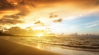 Nature sunlight skies beach wallpaper
