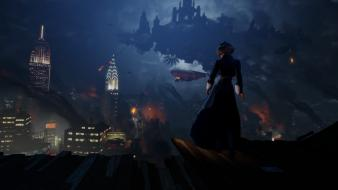 New york city bioshock infinite elizabeth comstock wallpaper