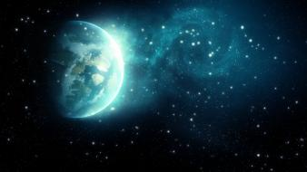 Outer space stars planets spacescape wallpaper