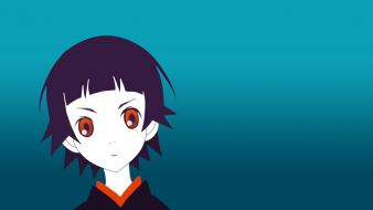 Pale skin blue bangs gradient tsunetsuki matoi Wallpaper