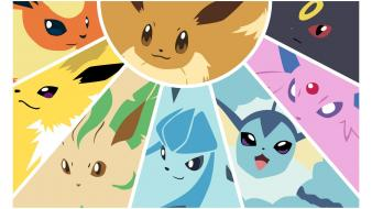 Pokemon flareon eevee vaporeon jolteon eeveelutions leafeon wallpaper