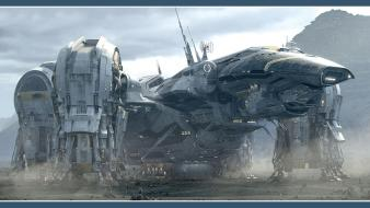 Prometheus spaceships wallpaper