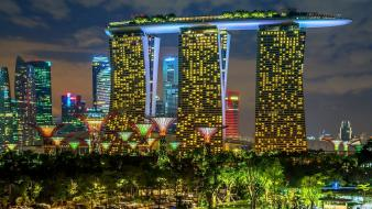Sand cityscapes garden singapore wallpaper