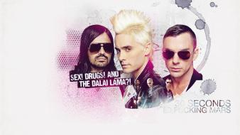 Seconds to mars dalai lama jared leto wallpaper