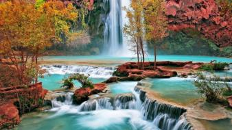 Spectacular nature waterfalls widescreen Wallpaper