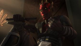 Star wars darth maul throne the clone 2013 wallpaper