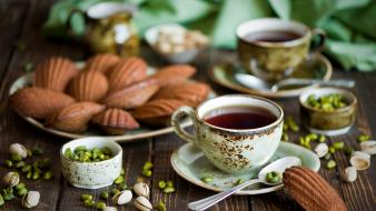 Tea food pistachios Wallpaper