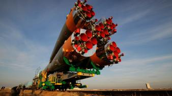 Ukraine rocket baikonur wide-angle wallpaper