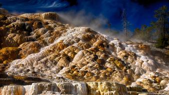 Usa wyoming hdr photography yellowstone national park wallpaper