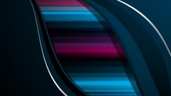 Abstract multicolor vector flow lines graphics wallpaper