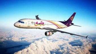 Aircraft airplanes thai airbus a320 wallpaper