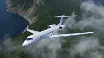 Aircraft jet gulfstream g550 Wallpaper