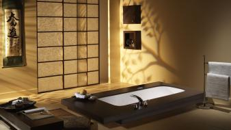 Bathtubs interior wallpaper
